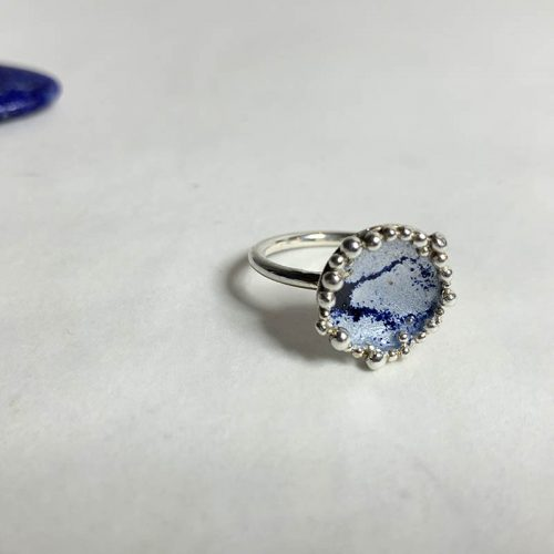 moedermelk ring-blauw
