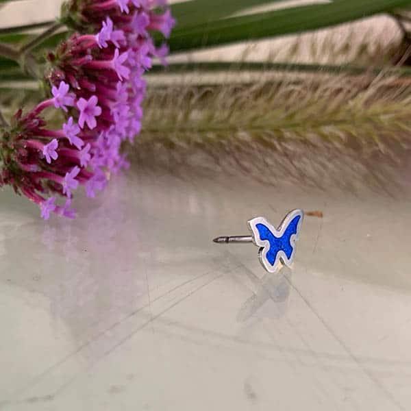 Vlinder-broche-emaille