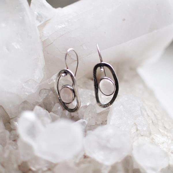 oorbellen-zilver-rozenkwarts
